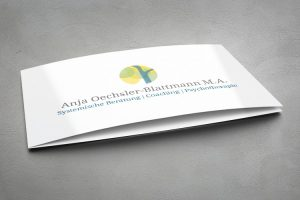 visitenkarte, 4-seitig, titelblatt