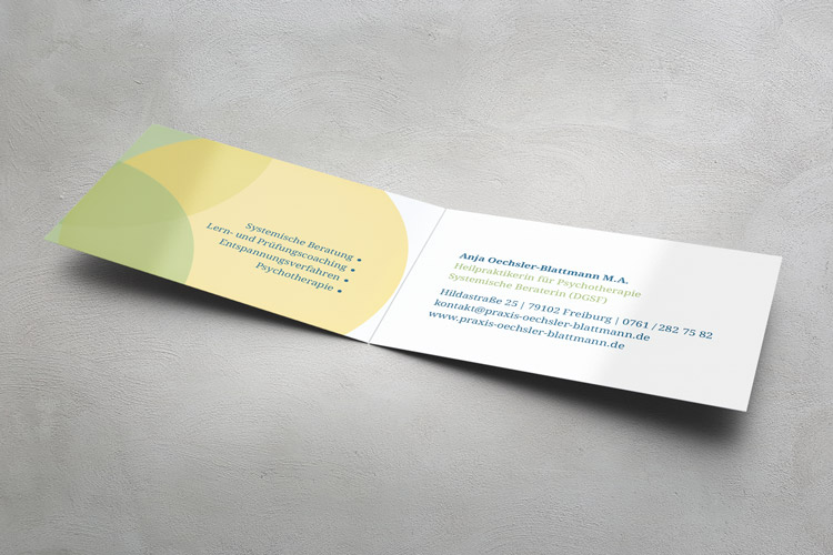 visitenkarte, 4-seitig, innenansicht