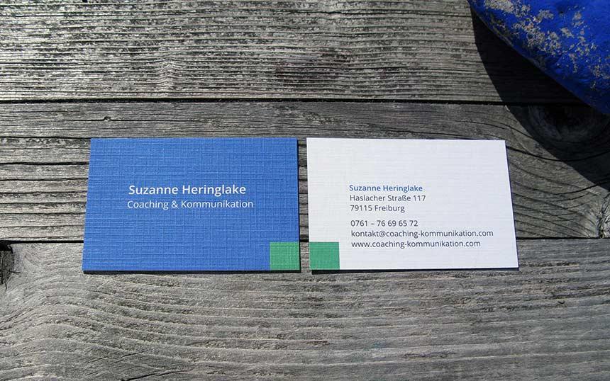 Grafikdesign Visitenkarte Coaching Kommunikation 2
