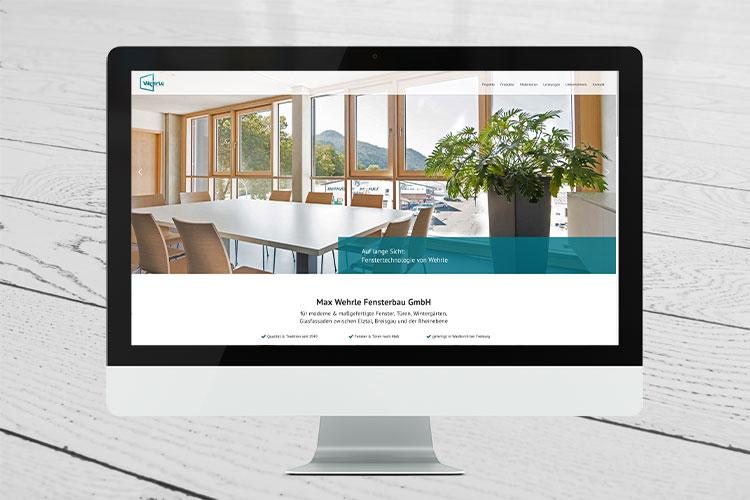 screenshot desktop website wehrle fensterbau